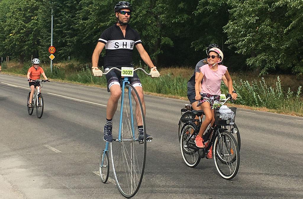 Vi välkomnar alla höghjulscyklister